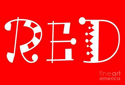 Red - Primary Color - Letter Art Poster by Barbara Griffin