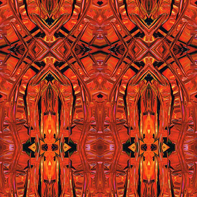 Red Abstract Art - Warm Garden 2 - By Sharon Cummings Poster