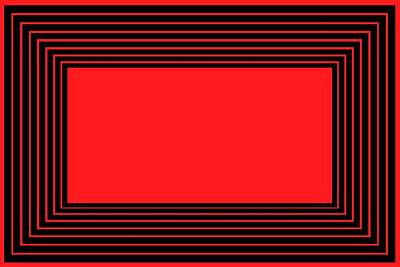 Red And Black Illusion Poster by Chastity Hoff