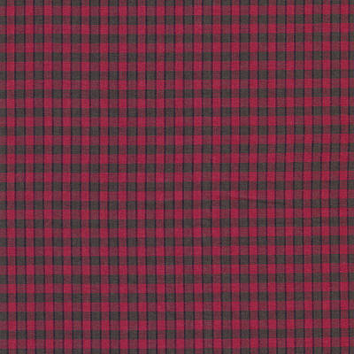Red And Black Plaid Pattern Textile Background Poster by Keith Webber Jr