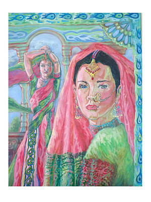 Poster featuring the painting Red And Green by Suzanne Silvir