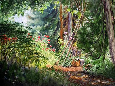 Poster featuring the painting Poppies Season In The Garden  by Irina Sztukowski
