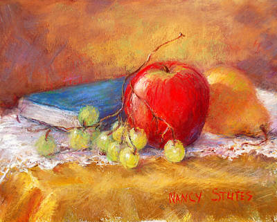Red Apple Poster by Nancy Stutes