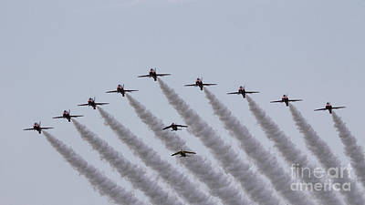 Red Arrows And Gnats Poster by J Biggadike