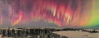 Red Aurora Panorama 1 Feb 12, 2016 Poster