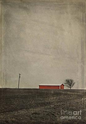Red Barn Poster by Elena Nosyreva