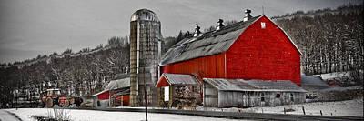 Red Barn No. 1 Poster by Patsy Zedar