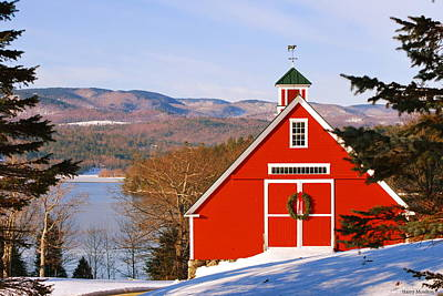 Red Barn On Newfound Lake Poster