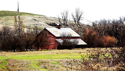 Red Barn Poster by Steve McKinzie