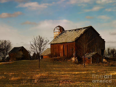 Red Barn - Waupaca County Wisconsin Poster by David Blank