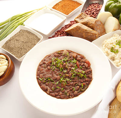 Red Beans And Rice Poster by New  Orleans Food