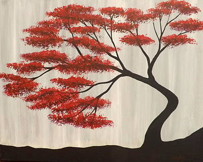 Red Bonsai Poster by Darren Robinson
