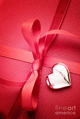 Red Bow On Present Poster
