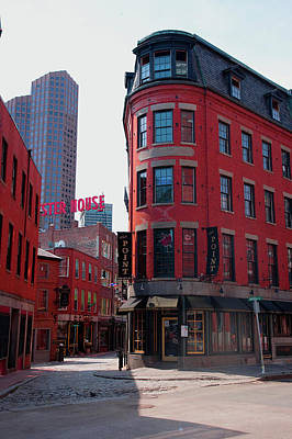 Red Brick Buildings In North End Poster