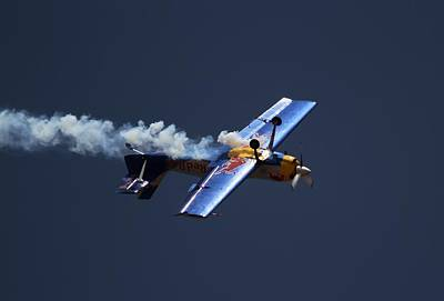 Poster featuring the photograph Red Bull - Inverted Flight by Ramabhadran Thirupattur