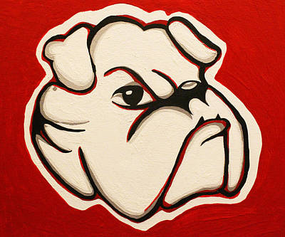 Red Bulldawg Poster by Brandy Nicole Neal