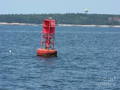 Red Buoy  Poster by Helene Guertin