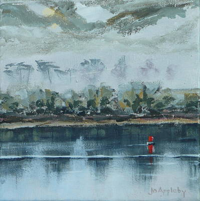 Poster featuring the painting Red Buoy by Jo Appleby