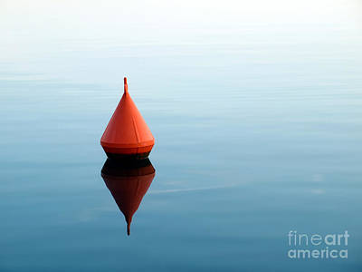 Red Buoy Poster by Sinisa Botas