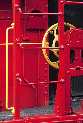 Red Caboose Poster by Paul W Faust -  Impressions of Light