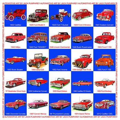 Red Cars Of America Poster
