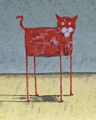 Red Cat Poster by Dan Engh