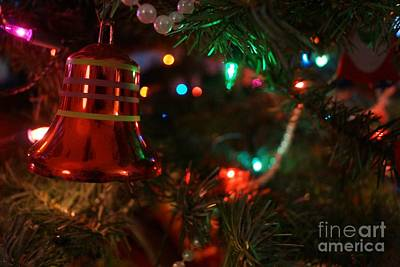 Red Christmas Bell Poster by Kerri Mortenson