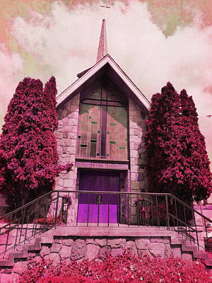 Poster featuring the photograph Red Church by Laurie Tsemak