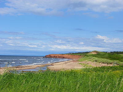 Red Cliffs Of Pei Poster