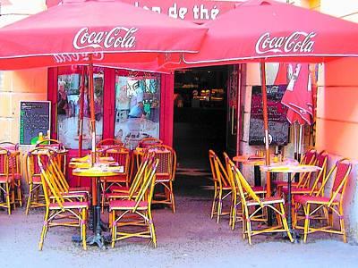 Red Coke Umbrellas Poster by Jan Matson
