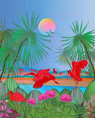 Red Corocoro -  Poster