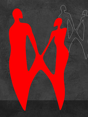 Red Couple 2 Poster by Naxart Studio