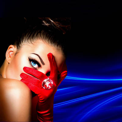 Red Desire Poster by Karen Showell