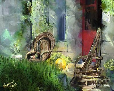 Red Door Poster by Arne Hansen