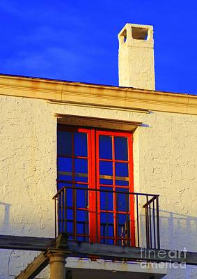 Red Door Poster by George Mount