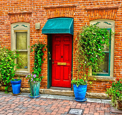 Red Door Poster by Baywest Imaging