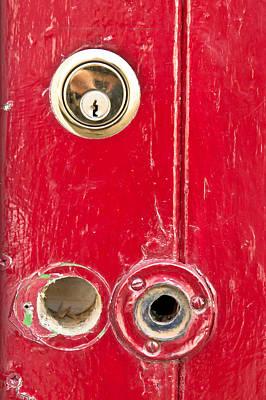 Red Door Lock Poster