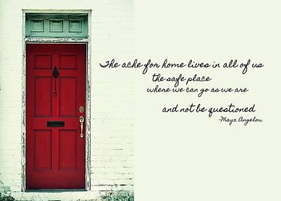 Red Door Quote Poster