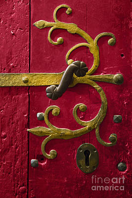 Red Entrance Poster by Margie Hurwich
