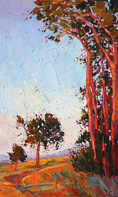 Poster featuring the painting Red Eucalyptus  by Erin Hanson