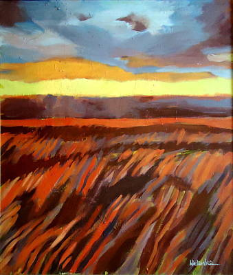 Poster featuring the painting Red Field by Helena Wierzbicki