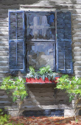 Red Flower Box St Augustine Painted  Poster by Rich Franco