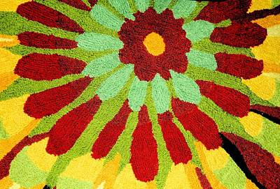 Poster featuring the photograph Red Flower Rug by Janette Boyd