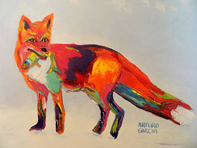 Red Fox Poster by Arturo Garcia