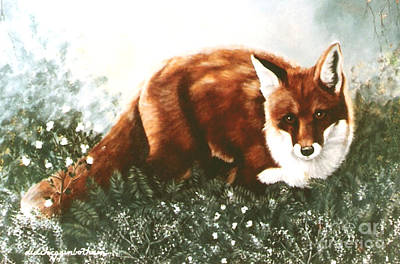 Red Fox Hunting Poster by DiDi Higginbotham