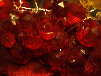Red Glass Grapes Poster