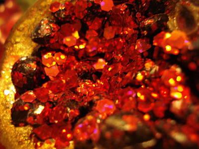 Red Glitter Pomagranite Poster