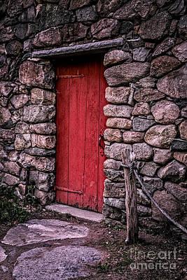 Red Grist Mill Door Poster