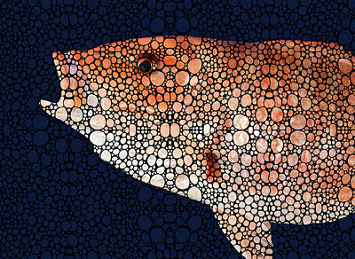 Red Grouper Fish - Florida Art By Sharon Cummings Poster