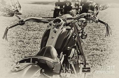 Red Harley Davidson Poster by Wilma  Birdwell